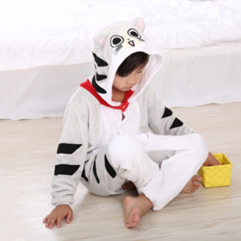 Chi's Sweet Home Cat Animal Pajamas Children Onesies baby Cosplay Unisex robe kids clothes Boys Girls Flannel Sleepwear Pyjama