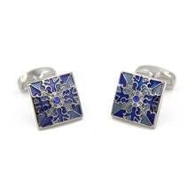 Распродажа мужские запонки для жениха Полярная звезда с голубым
