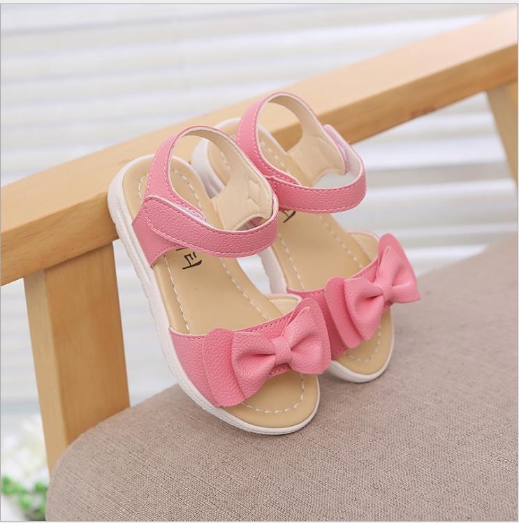 26954c288b 2019 New Children's Girls Sandals PU Leather Children's Sandals Girls  Anti-skid Bow Princess Shoes ...