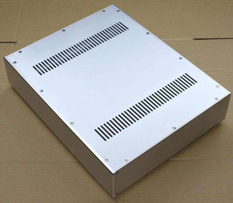 WA52 Full aluminum amplifier chassis / Pre-amplifier / Tube amp amplifier / AMP Enclosure / case / DIY box (430*92*340mm) 435 86 310mm full aluminum power amplifier chassis rear amp chassis tube amplifier chassis amp enclosure case diy amp box