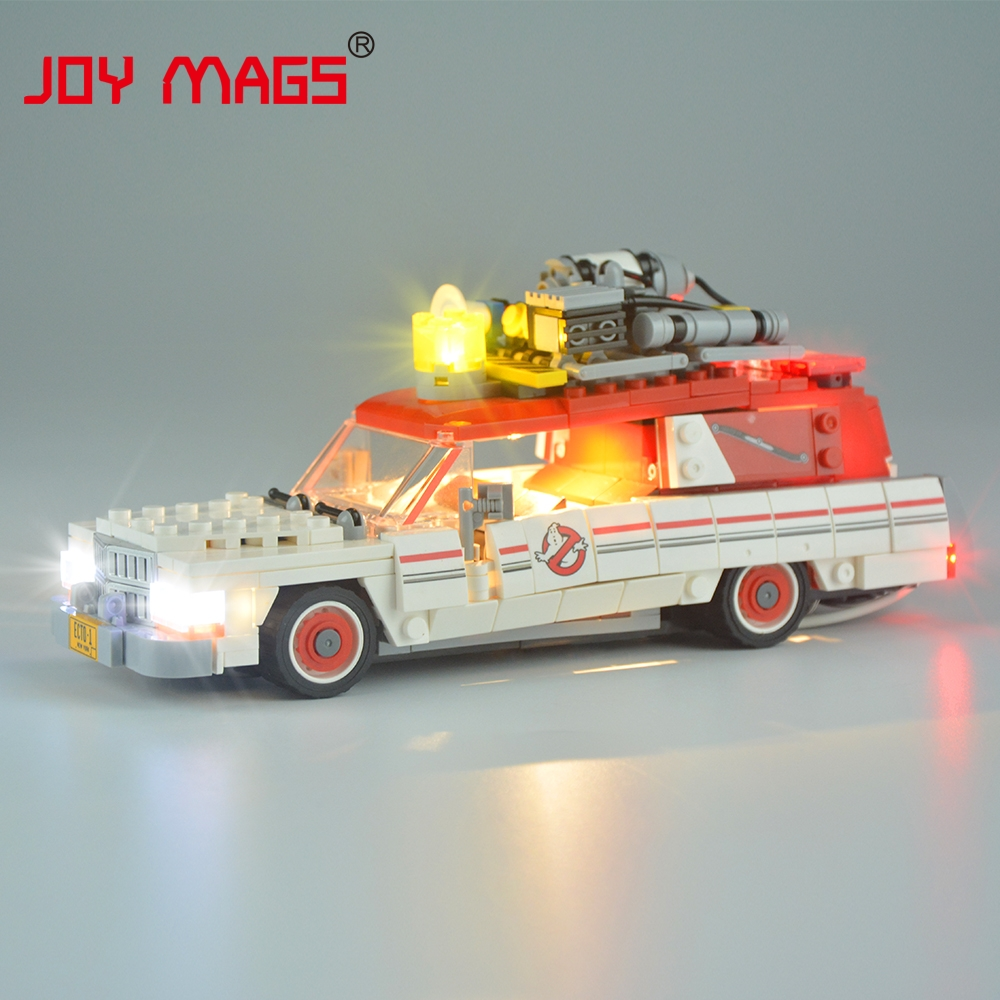JOY MAGS Led Light Kit (Only Light Set) ForThe Ghostbusters Ecto-1&2 Building Blocks Model Light Set Compatible With 75828 joy mags only led light set building blocks kit light up kit for creator series f40 car compatible with lego 10248 21004