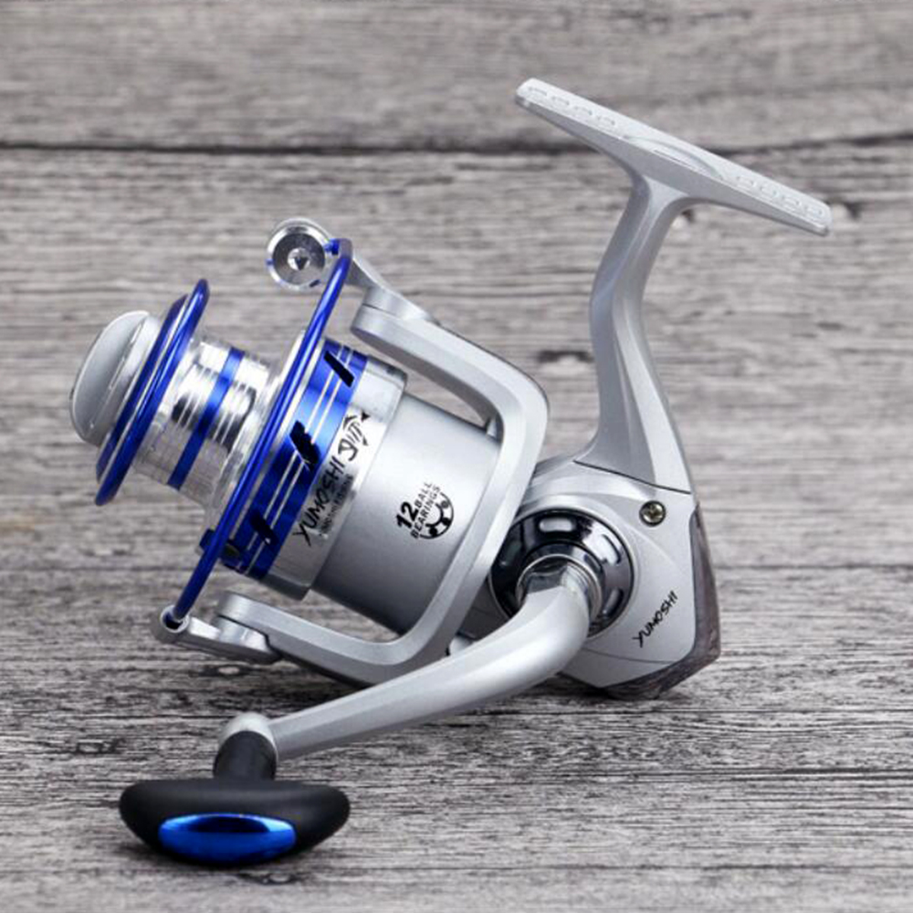 Cheap fishing reels spinning reels 12ball bearing 5 5 1 for Discount fishing reels