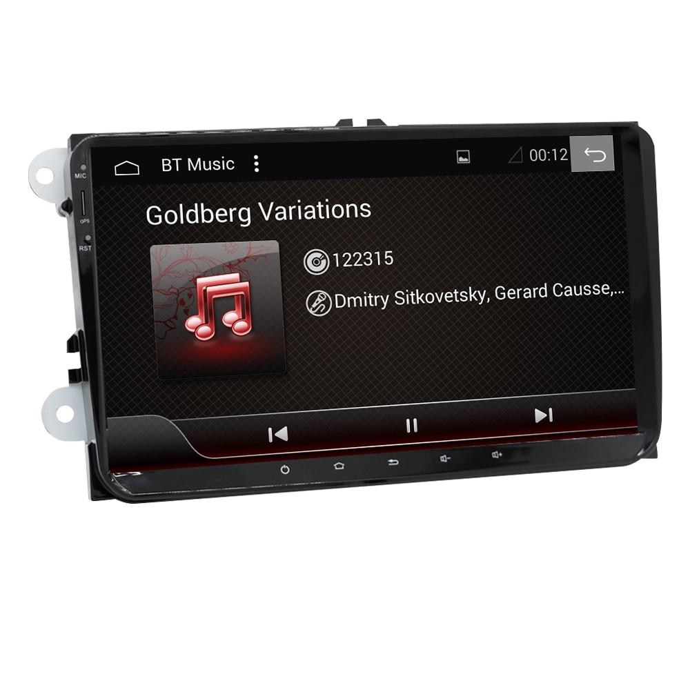 Eunavi Android 9.0 2 DIN Auto GPS-PLAYER für Seat Altea Toledo VW GOLF 5/6 Polo Passat B6 CC Tiguan Touran RADIO RK3399 4G + 64G