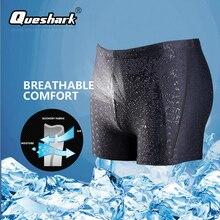 Men Sharkskin Swimwear Sexy Swimming Trunks Quick-drying Swim Boxer Shorts Beach Swimsuit