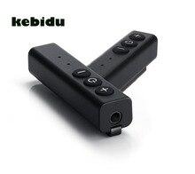 Kebidu mini clipe de caneta 5v/1a, receptor bluetooth de 3.5mm, entrada aux, micro usb, botão multifuncional com microfone para dispositivo de smartphone
