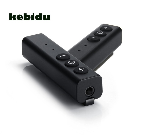 kebidu Mini 5V / 1A Pen Clip Bluetooth Receiver 3.5mm Aux Input Micro USB Multi function button with MIC for Smart Phone Device