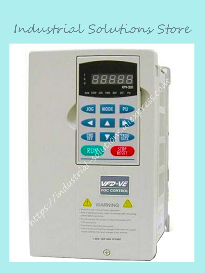 Input 3ph Inverter VE Series Of High Frequency Converter Inverter VFD055V43A-2 0~480V 13A 0~600Hz 5.5kW 7.5HP New