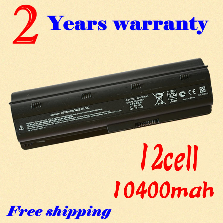 JIGU 12 cell battery for HP PAVILION DM4 DV3 DV5 DV6 DV7 G32 G62 G42 G6 for Compaq Presario CQ32 CQ42 CQ43 CQ56 CQ57 CQ62 аккумулятор 4parts lpb dv3 для hp pavilion dm4 dv3 dv5 2000 dv6 dv7 g6 g7 g42 g62 g72 envy 17t compaq cq32 cq42 series 11 1v 4400mah