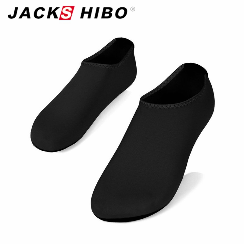 JACKSHIBO Water Shoes Men Swimming Shoes Solid Color Design Summer Aqua Beach Shoes Sea S Sneaker For Men Zapatos Hombre