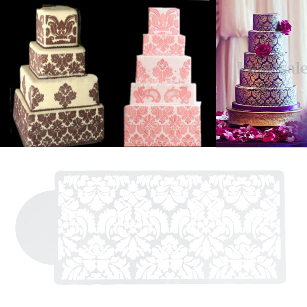 Lace Stencil Cake Decorating