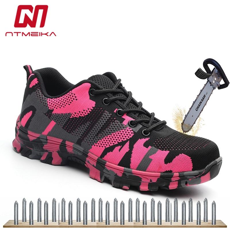 Women Work Safety Shoes Steel Toe Casual Sneakers Women