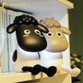 Творческий Милые Овцы USB Аккумуляторная Светодиодные Настольные, Настольные Лампы Защита Глаз Чтение Свет для baby дети спальня рядом с лампой