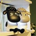 Criativo Bonito Sheep USB Recarregável Led Desk Lamp Table Lamp quarto ao lado da lâmpada Proteção Para Os Olhos Luz de Leitura para as crianças do bebê