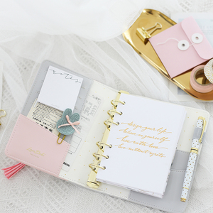 Image 2 - Lovedoki Flouncing Leather Cover Notebook A6 Personal Planner Journals Organizer Diary Book School Supplies Creative Stationery