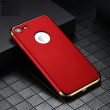 Case For  iPhone 7 Plus iPhone XS Max XR Cover3 In One Case 8 6 6S 5 5S SE PC Protective Plastic Cover стоимость