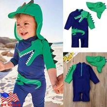 Купальный костюм из 2 предметов с изображением динозавра для маленьких мальчиков; купальник с изображением динозавра; пляжная одежда для серфинга; детский купальный костюм с защитой от солнца