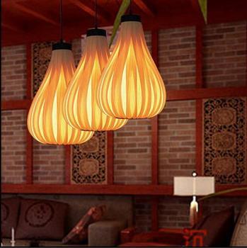 대나무 아트 램프 아시아 태국 일본 북유럽 램프 베니어 커피 숍 가든 레스토랑 연구 거실 펜던트 조명 zb25
