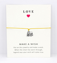 I Heart God Merry Christmas Cross Snowflake Antique Silver Charm Card Bracelets Yellow Pink Red Wax Cord Women Men Jewelry Gift