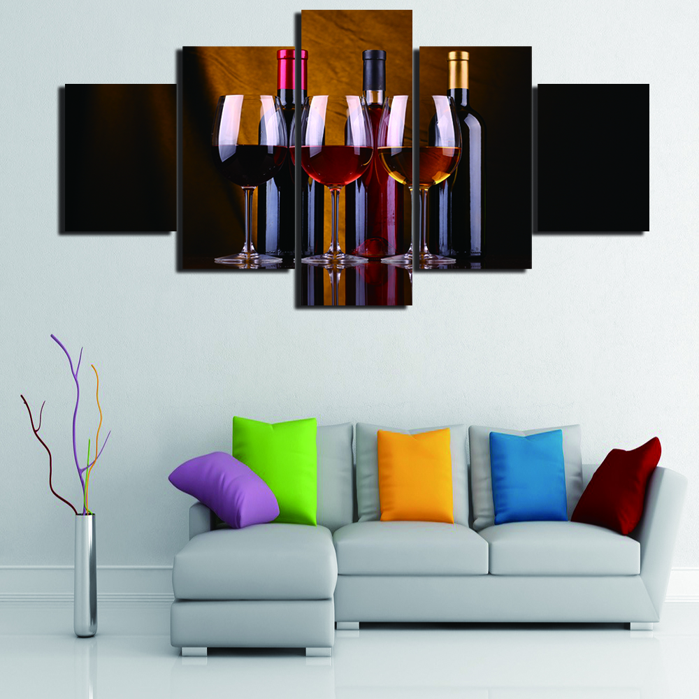 Unframed 5 Pieces Modern Kitchen Wall Art Picture HD Painting on ...