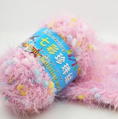 mylb 1balls=50g Fur Yarn Skein High Quality Ultra Soft Coral Colorful Fleece Baby Warm Yarn Knitting Hot Sale free shipping