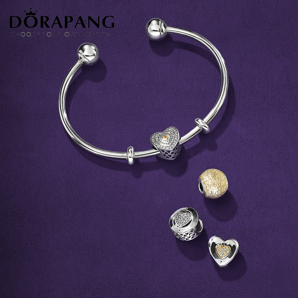 DORAPANG 100% 925 sterling silver charm smart beads classic sensitive kit Fit bracelet diy bracelet lover gift factory wholesale dorapang 100% 925 sterling silver snake chain necklace fit charm beads for women fashion jewelry diy bracelet factory wholesale