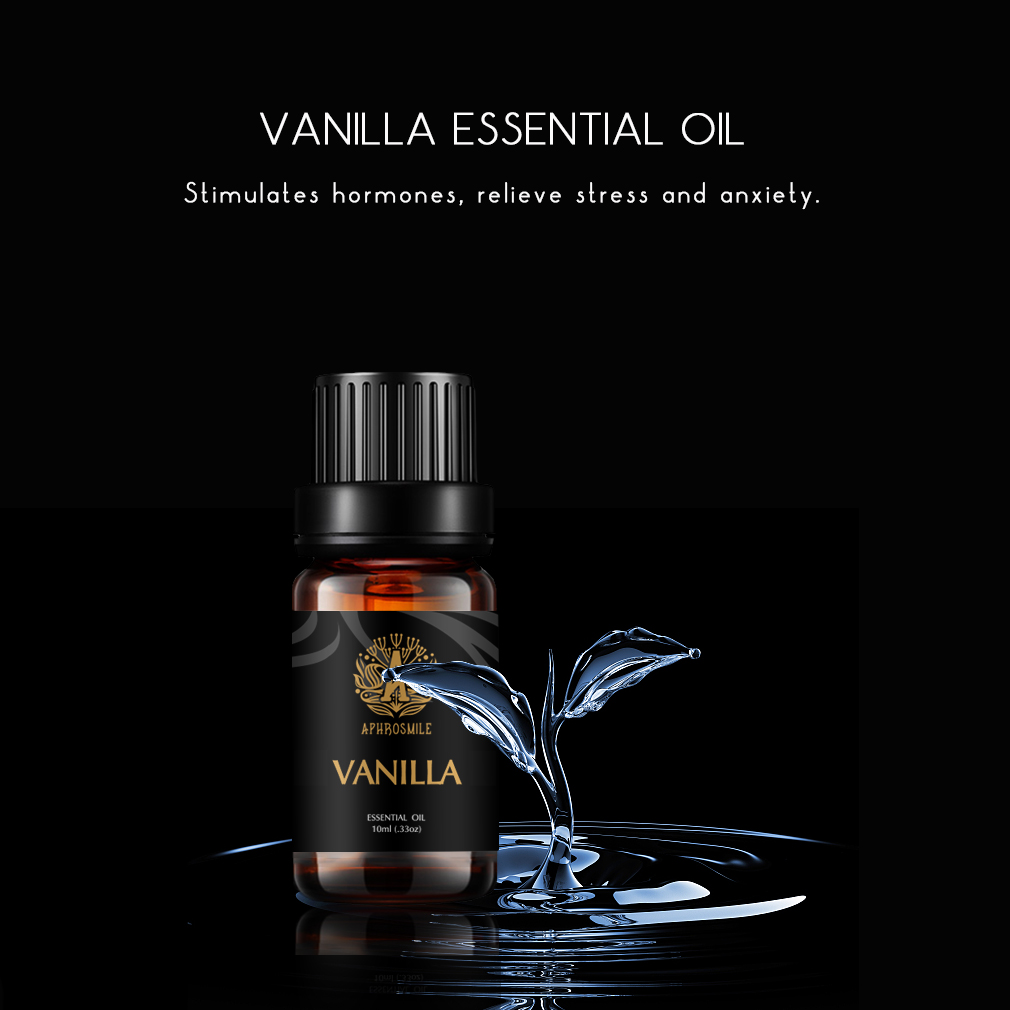 Sweet Vanilla Essential Oil 10ml Help to Relieve Anxiety Relax Mood 100% Natural Hair Care Oil Vanilla Perfum Oil