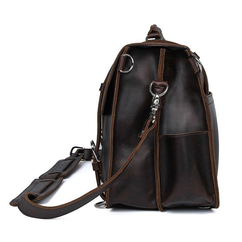Мужской офисный портфель, толстый прочный, коровья кожа, Юнайтед дизайн, большой, для путешествий, 17 дюймов, для ноутбука, на плечо, через плечо, Tote, сумки, сумки - 4