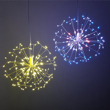 DIY Dandelion LED Fairy String Light Battery Starburst Holiday Light With Remote Control Decoration for Garden Room Party(China)