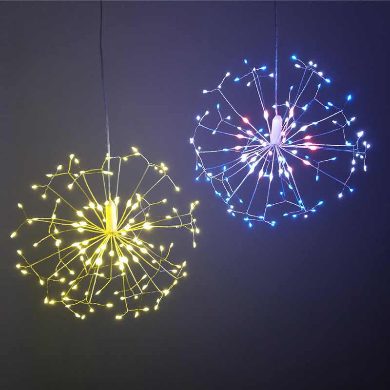 DIY タンポポ Led ストリングの妖精ライトバッテリースターバーストと休日の光リモコンの装飾ガーデンルームパーティー