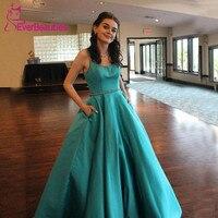 Robe De Soiree Ball Gown Evening Dress Long 2020 Satin Formal Party Gowns Vestido De Festa Longo Abiye Gece Elbisesi