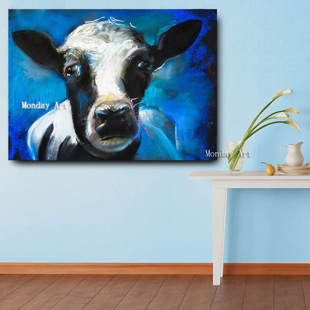 Embelish-1-Pieces-Lovely-Cow-Face-HD-Print-Canvas-Oil-Waterproof-Painting-For-Living-Room-Large (2)