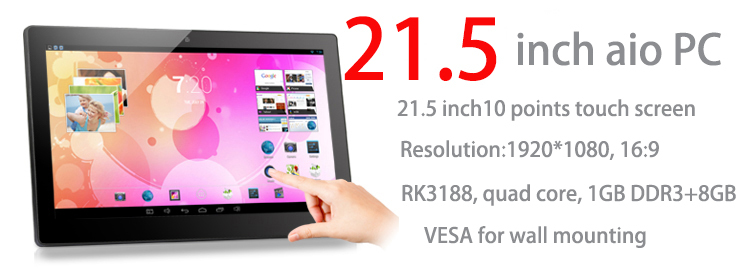 21.5 polegada Tablet de Tela de Toque