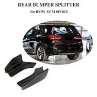 Rear Bumper Splitters Lip Spoiler Aprons Cupwings Flaps Winglets for BMW F15 X5 M Sport 2014 2018 Carbon Fiber