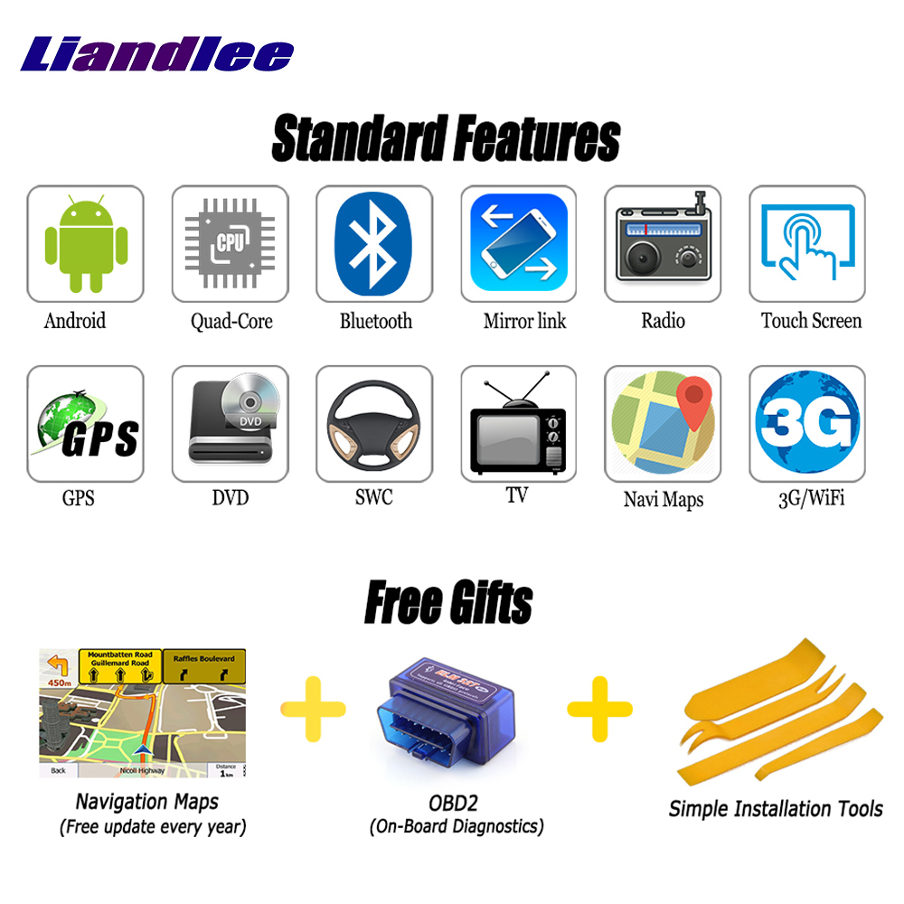 Discount Liandlee For Toyota Regius Ace 2004~2013 2 din Car Android GPS Navi Navigation Maps Radio CD Audio Video Stereo DVD Player 1