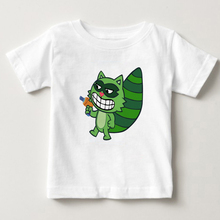 2018 digital printing Happy Tree Friend Lifty & Shifty Thief Character T Shirt children summer Tshirt boy/girl Cartoon shirt M