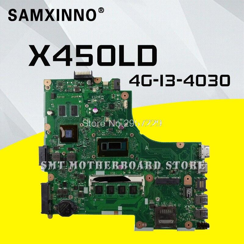 Для ASUS X450LD 4G I3 4030 ноутбука Материнская плата карты материнскую плату испытания хорошо материнской платы S 6