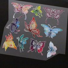 Butterfly Stencil Rhinestones Accessories For Clothing Heat Transfer Rhinestones For T shirt Print Flatback Cloth Art Decoration octopus stencil rhinestones accessories for clothing heat transfer rhinestones for t shirt print flatback cloth art decoration