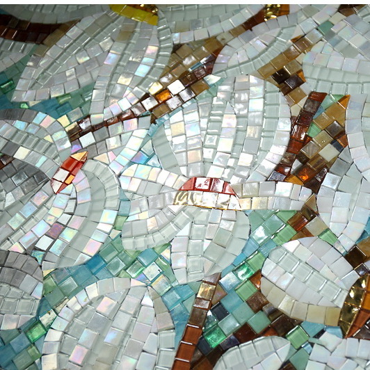 Luxurious Glass Mural Mosaic Pattern Design Glass Tiles Pattern  Recycled Glass Tiles D2002