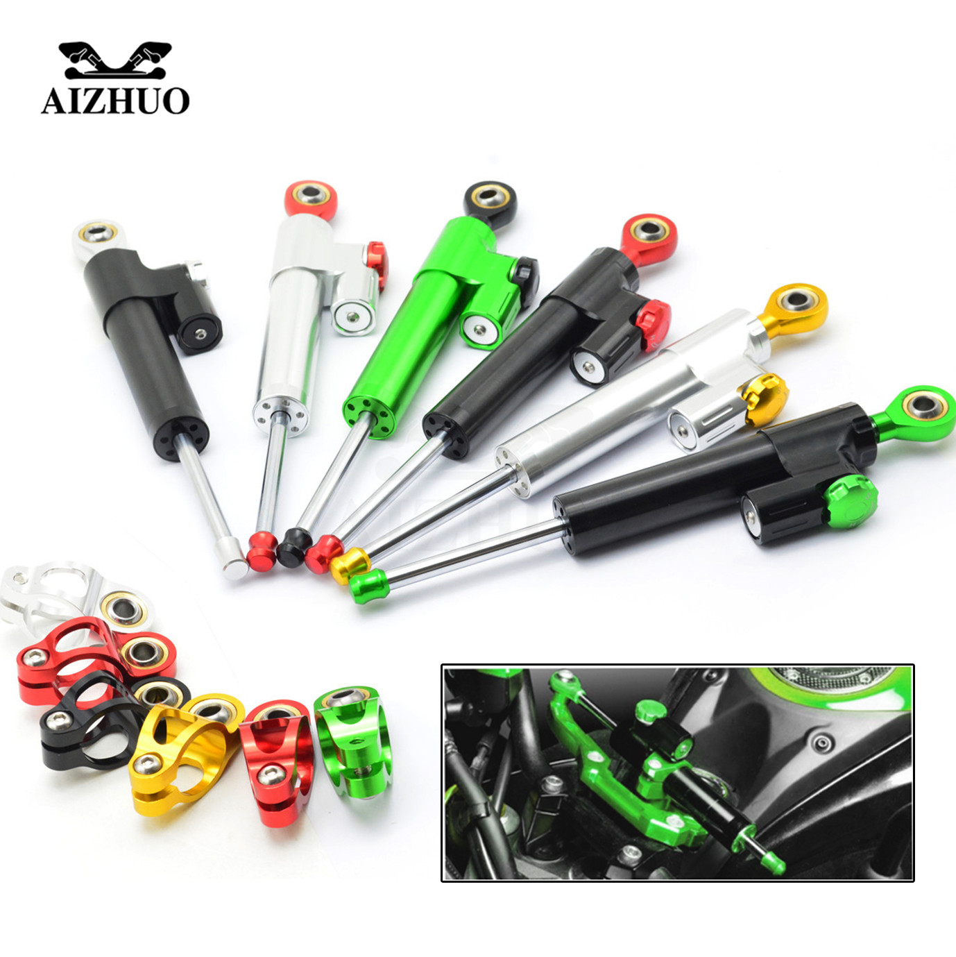 Universal Motorcycle Damper Steering Stabilize Safety Control Aluminum For HONDA CRF1000L CRF 1000L Africa Twin CB600F X-11 high quality zp500a 2cz concave type convex type silicon rectifier common rectifier tube