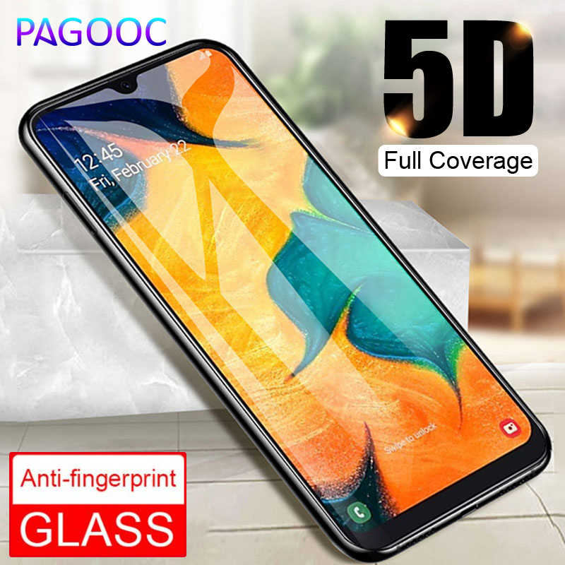 5D Full Glue Cover Tempered Glass For Samsung Galaxy A30 A50 A70 A80 A90 A20 A10 A7 2018 M10 M20 M30 Screen Protector Glass Film