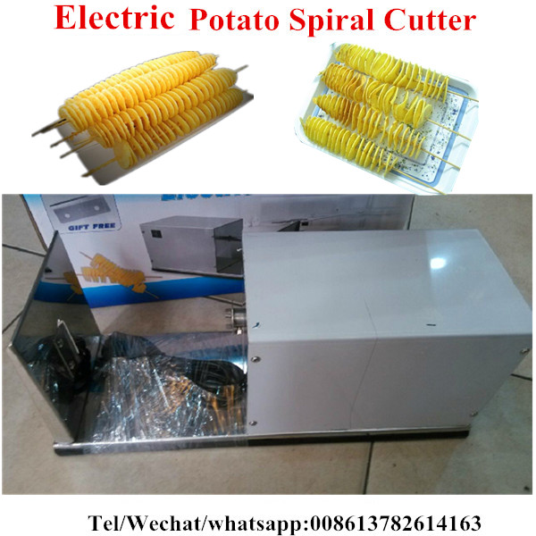 Stainless Steel Electric Spiral Potato Slicer Potato Chips Slicer Spiral Potato Slicer Mini Potato Chip Machine