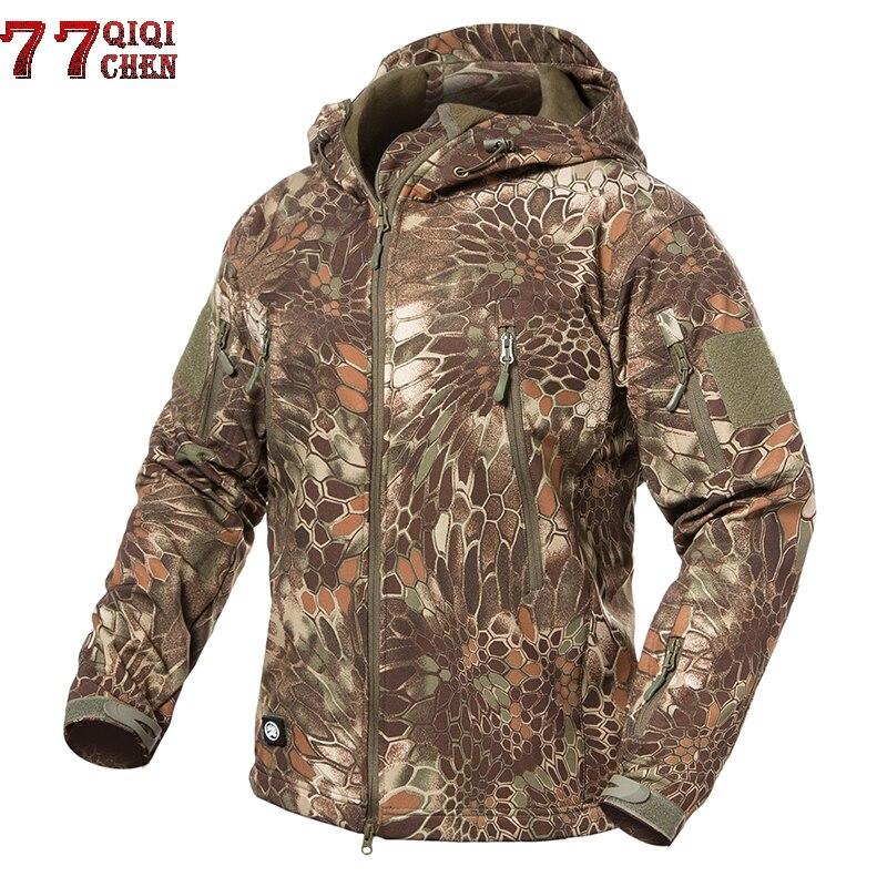 Veste tactique militaire en coquille souple hommes imperméable coupe-vent hiver polaire tactique armée veste manteau Camouflage vol vestes