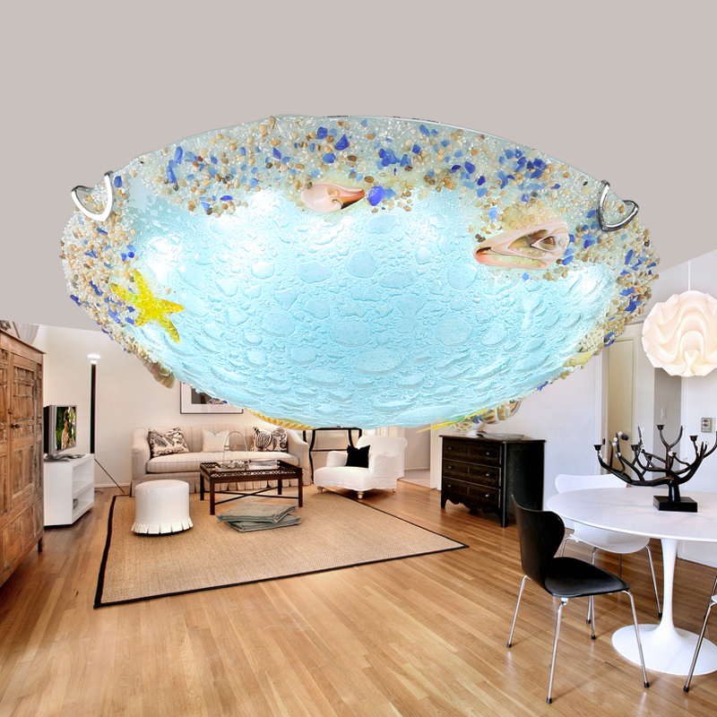 Children lamp Shell Ceiling Lamps Balcony Corridor Kids Room Creative Ocean Fish Shells glass LED ceiling lights ZA FG264 light colorful ceiling lights restaurant creative children s room bedroom balcony corridor lamp shell ceiling lamp za