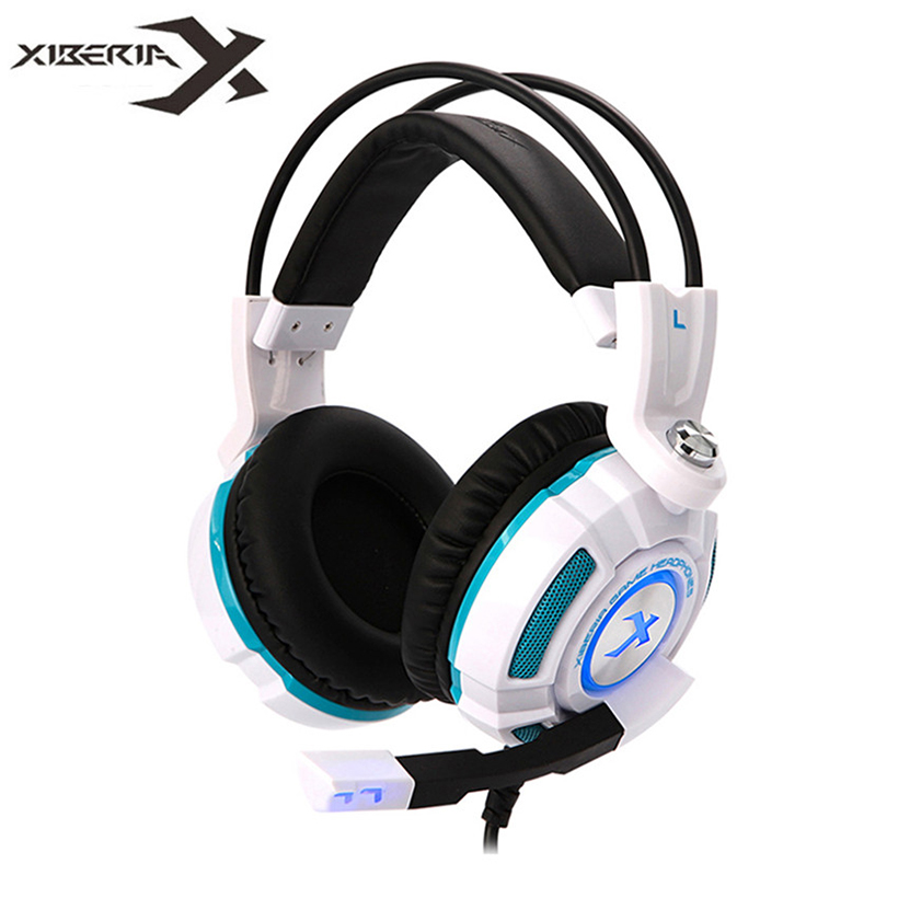 XIBERIA K3 Headphones with Microphone Virtual 7.1 Surround Sound Stereo Bass Gaming Headset for Computer Gamer Casque Audio xiberia k3 over ear pc gamer game headset usb 7 1 virtual surround sound stereo bass pro gaming headphone with mic vibration led