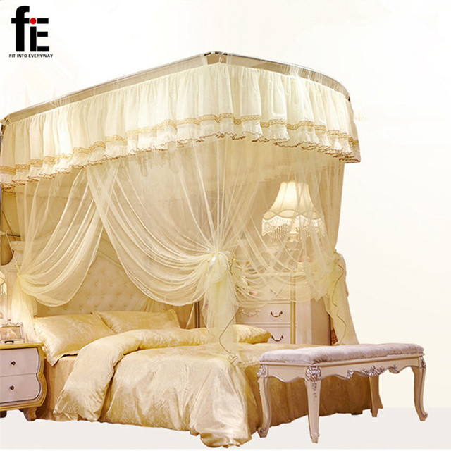 Retractable Lace Mosquito Net Bed Curtains Palace Sleeping Bed