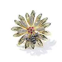 Small Daisy Brooch Small Bee Brooch Coat Pin Micro inlaid Zircon Corsage Small Fresh Art and Lovely Collar