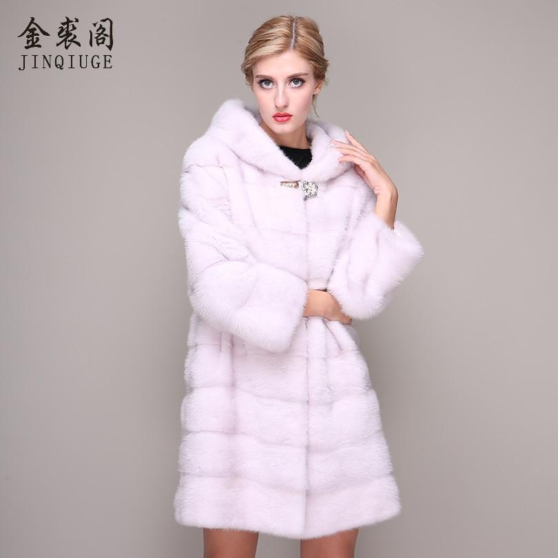 Long De Cm Réel Avec Vison Beige Jinqiuge Naturel Vêtements Manteaux Hiver 90 Manteau Femmes Survêtement À Hottes Véritable Chaud Fourrure TXiPZOku