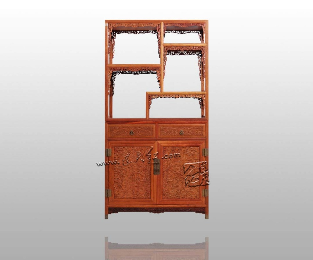 Rosewood Curio Storage Cabinets China Antique Home Furniture filing Magazine Racks Solid Wood Cupboard Multi-function Bookcase