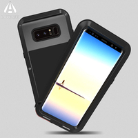 LOVE MEI For Samsung Galaxy Note 8 Case Cover Luxury Hard Metal Aluminum Silicone Heavy Duty
