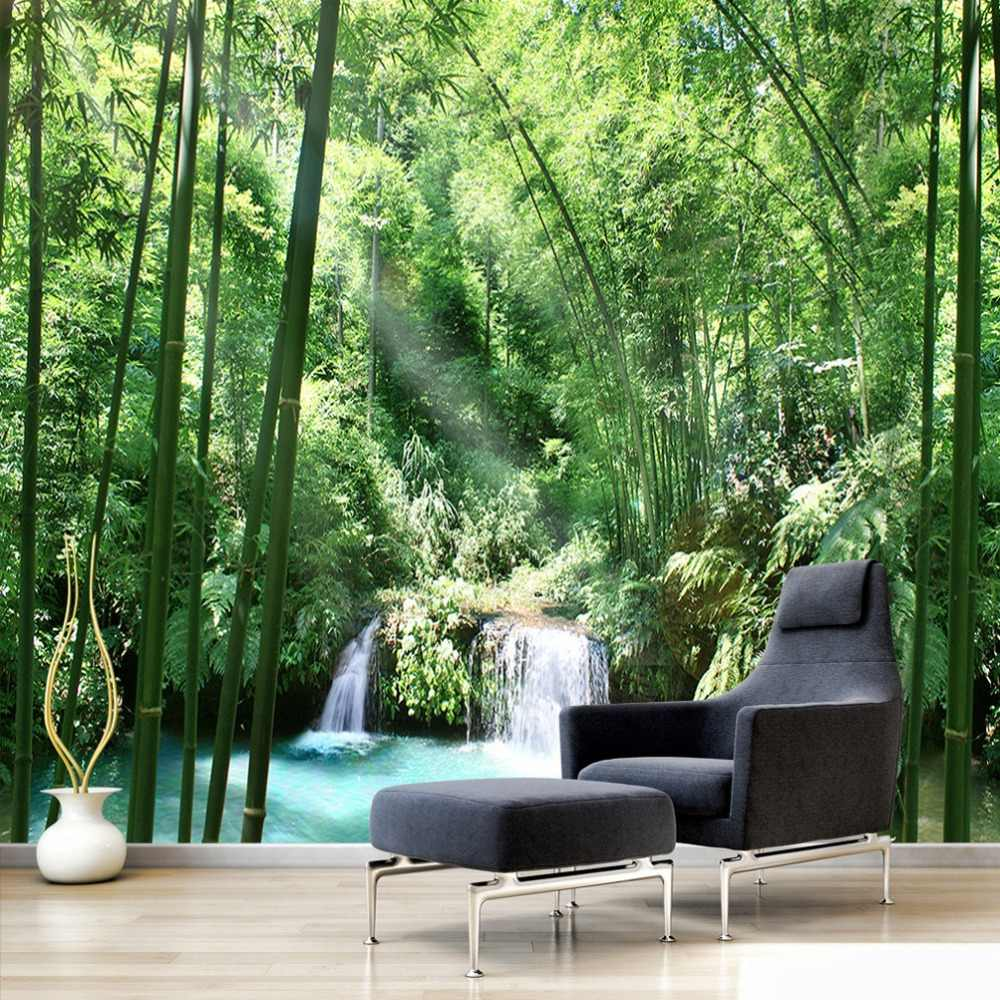 Custom 3d Wall Murals Wallpaper Bamboo Forest Natural Landscape